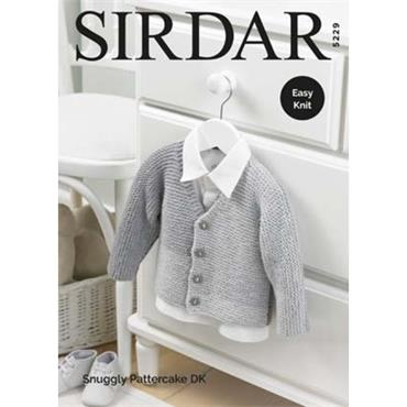 Sirdar Pattern  #5229 Cardigan in Snuggly Pattercake DK