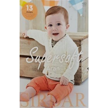 Sirdar Supersoft Aran Pattern Book (B) #522