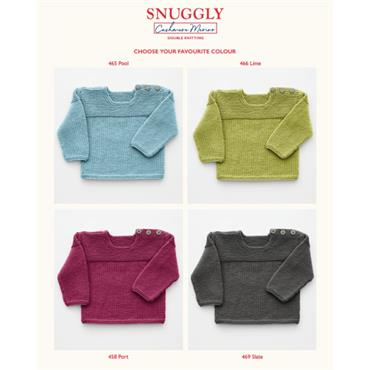 Sirdar Pattern #5244 Sweater in Snuggly Cashmere Merino Double Knitting