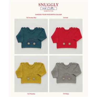 Sirdar Pattern #5268 Car Jumper in Snuggly 100% Cotton