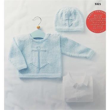 Sirdar Booklet #5321 Baby Sweater & Hat in DK
