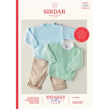 Booklet #5343 Baby Sweaters Knitted in Snuggly Soothing DK