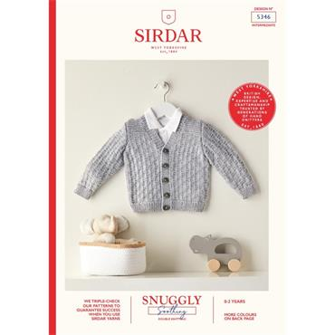 Booklet #5346 Babies Cardigan in Snuggly Soothing DK