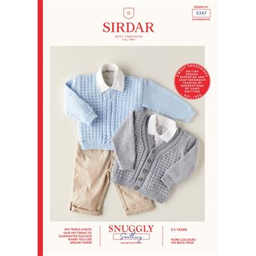 Booklet #5347 Baby Sweater and Cardigan Knitted in Snuggly Soothing DK