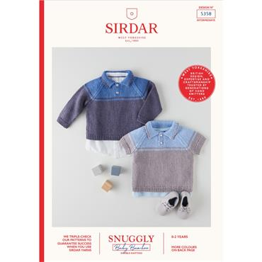 Booklet #5358 Babies Sweater Knitted in Snuggly Baby Bamboo DK