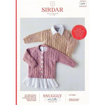 Sirdar Booklet #5379 Babies Jumper & Cardigan in Snuggly 100% Cotton