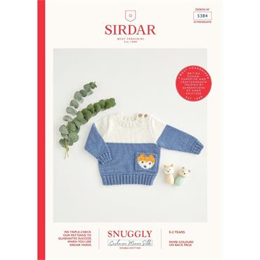 Sirdar Booklet #5384 Sweater in Snuggly Cashmere Merino Silk DK