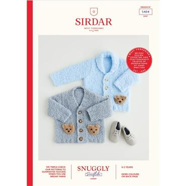 Sirdar Booklet #5404 Cardigans Knitted in Snuggly Snowflake Chunky