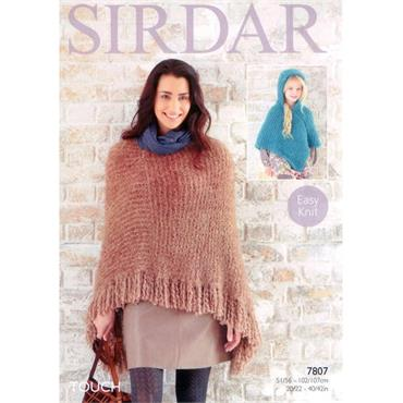 Sirdar Pattern #7807 Ponchos in Touch