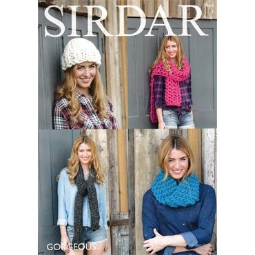 Sirdar Pattern #7964 Snood, Hat & Scarves in Gorgeous