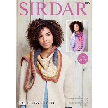 Sirdar Easy Crochet Pattern #8027  Accessories in Colourwheel DK