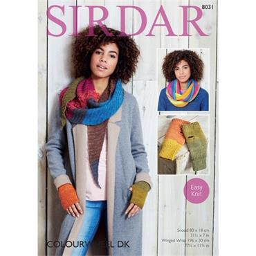 Sirdar Pattern #8031 Accessories knit in Colourwheel DK