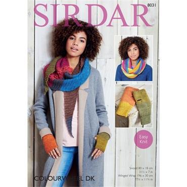 Sirdar Pattern #8031 Accessories knit in Colourwheel DK
