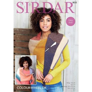Sirdar Pattern #8033 Wraps knit in Colourwheel DK