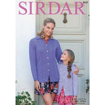 Sirdar pattern #8045 Jackets in No. 1 DK