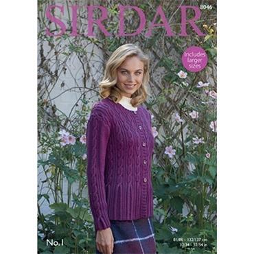 Sirdar Pattern #8046 Cardigan in No.1 DK