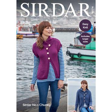 Sirdar #8174 Easy Knit in No. 1 Chunky