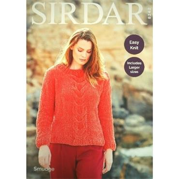 Sirdar Pattern #8242 Sweater in Smudge