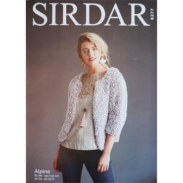Sirdar Pattern #8277 Cropped Cardigan in Alpine
