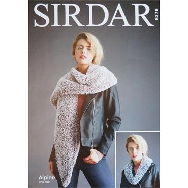 Sirdar Pattern #8278 Woman's Accessories in Alpine