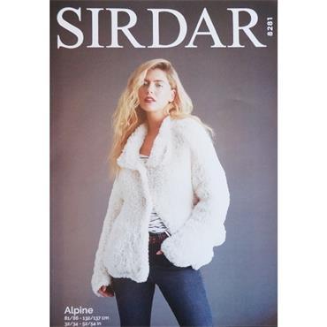 Sirdar Pattern #8281 Ladie's Bomber Jacket in Alpine