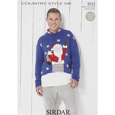 Sirdar #9722 Santa Claus Christmas Sweater in DK