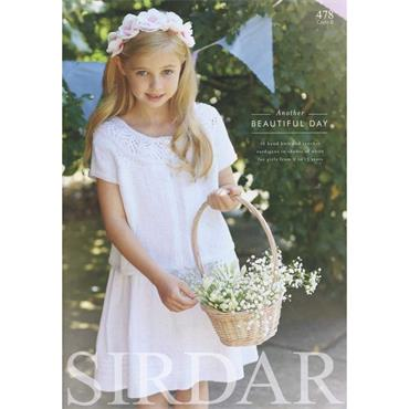 "Sirdar ""Another Beautiful Day"" book of 16 designs #478 (Communion & Flower Girl) Knit & Crochet"