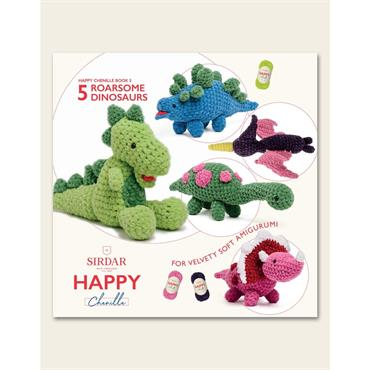 Sirdar Happy Book 5 - 5 Roarsome Dinosaurs (#550)
