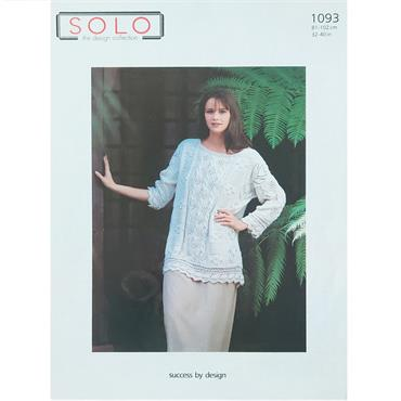 Solo Pattern #1093 Ladies Aran Sweater