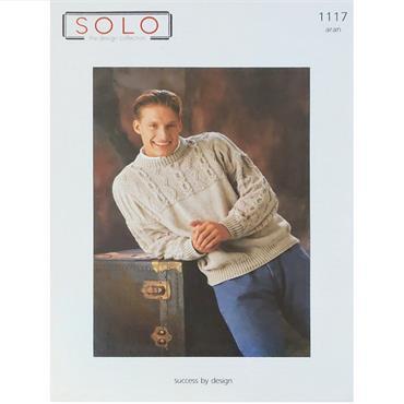 Solo Pattern #1117 Men's Aran Sweater