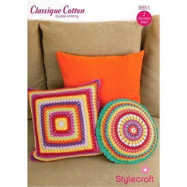Stylecraft Pattern #8851 Crochet Cushions in DK