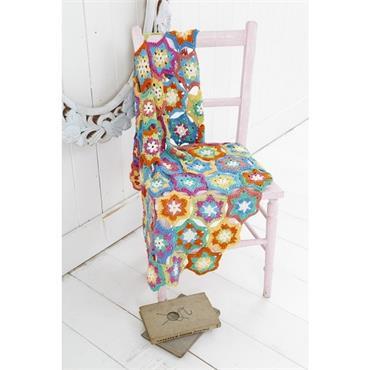Stylecraft Pattern #9138 Crochet Hexagon Star Throw in DK