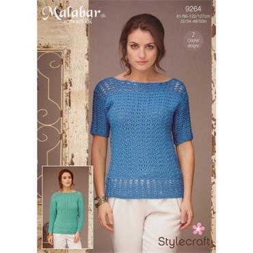 Stylecraft Pattern #9264  Crochet Tops in  DK