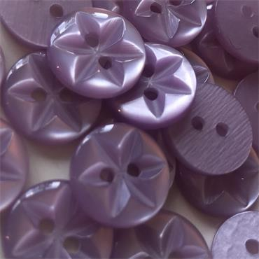 Pack of 6 x Plastic Star Buttons (14mm, Size 22)