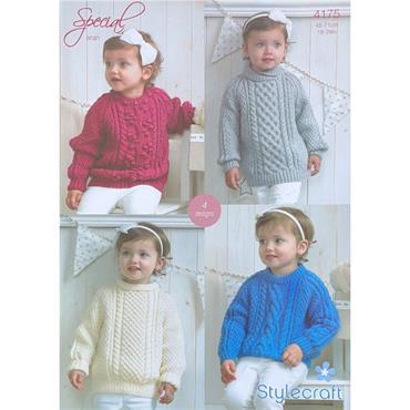 Stylecraft Pattern #4175 Aran Sweaters in Special Aran