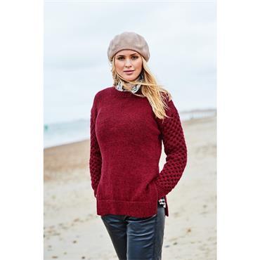 Stylecraft Pattern #9873 Round & V Neck Sweater in Aran