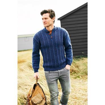 Stylecraft Pattern #9875 Mens Sweaters in Aran