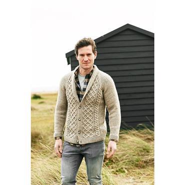 Stylecraft Pattern #9876 Mens V Neck & Shawl Neck Cardigans