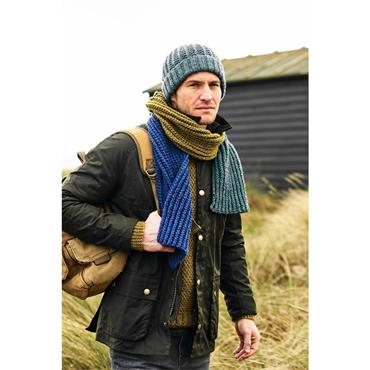 Stylecraft Pattern #9878 Mens Hats & Scarves in Aran