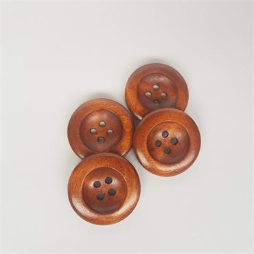 Pack of 4 x Round Wood Buttons SW16 (25mm)