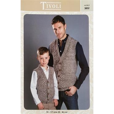 Tivoli Pattern #3852 Gents/Boys Waistcoats in Noble Aran