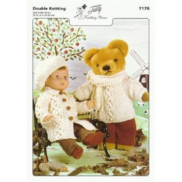 Teddy Pattern #7176 Doll & Teddy Outfits in DK