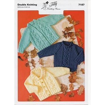 Teddy Pattern #7187 DK  Cardigans & Sweater