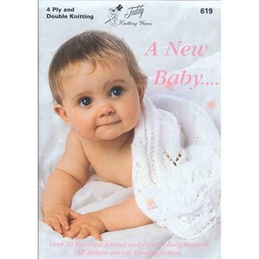 Teddy Pattern Booklet #619 Over 20 Knitted & Crochet Baby Patterns in 4 Ply and Double Knitting