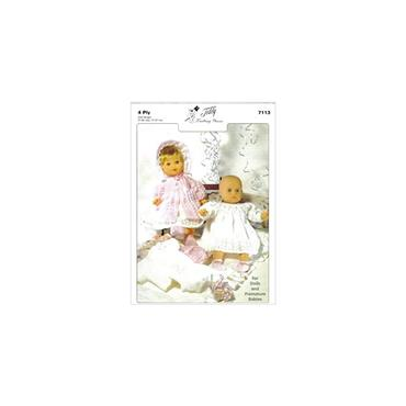 Teddy Pattern #7113 Baby Doll/Premature Baby Layette in 4 Ply