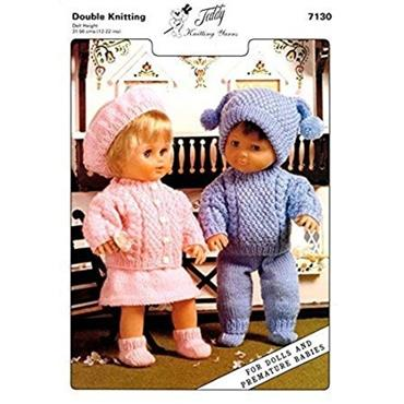 Teddy Pattern #7130 Dolls/Premature Baby Outfits