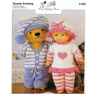 Teddy Pattern #7140 Pyjama Party in DK