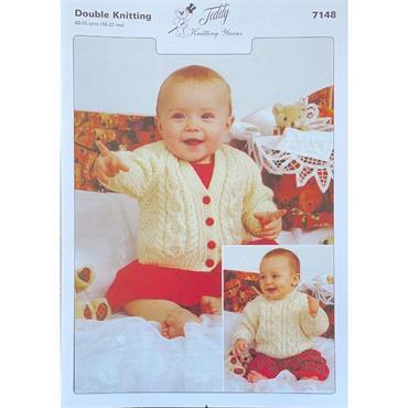Teddy Pattern #7148 Sweater & Cardigan in Double Knitting