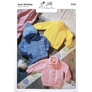 Teddy Pattern #7157 Jackets in Aran