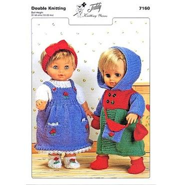 Teddy Pattern #7160 Dolls Outfits in DK        inv